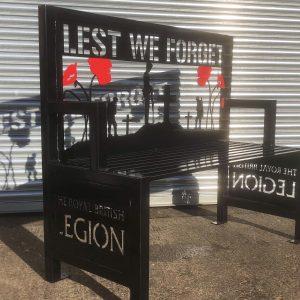 Memorial Bench for Royal British Legion